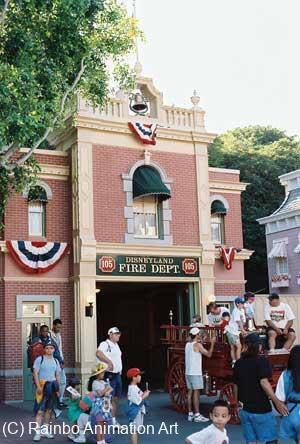 Walt's Apartment in Disneyland Above the Firehouse