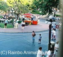 View of Disneyland's Main Street through the front window
