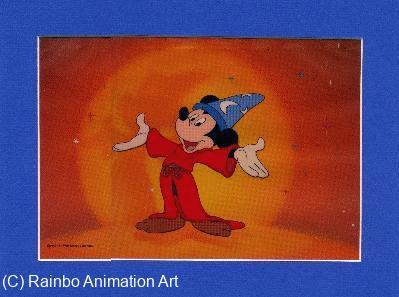 Sorcerer Mickey cel from 60th Anniversary magazine