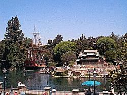 The Columbia sailing in The Rivers of America in Disneyland