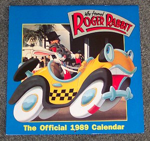 Roger Rabbit 1989 Calendar image