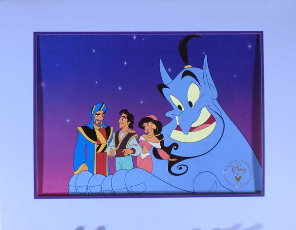 aladdin king of thieves disney store video lithograph