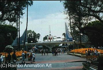 Disneyland's Tomorrowland Gate