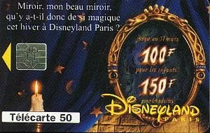 Disneyland Paris Magic Mirror Phonecard