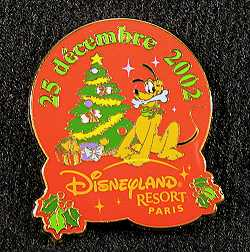 Disneyland Paris Christmas 2002 Pluto Pin