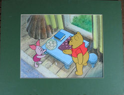 Pooh and Piglet Original Animation Cel