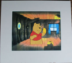 Winnie The Pooh Disney Animation Cel image