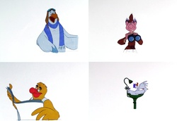 4 Disneyland Circarama Animation Cels