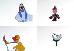4 Disneyland Circarama Animation Cels image