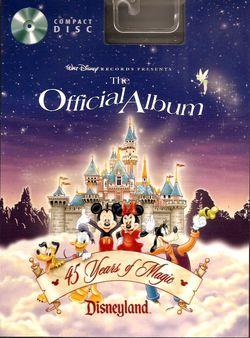 Disneyland Official Album 45 Years of Magic CD image