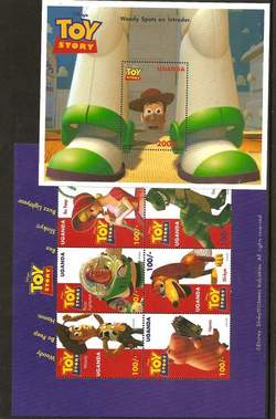 Toy Story Uganda Stamps 2-Sheet Set image