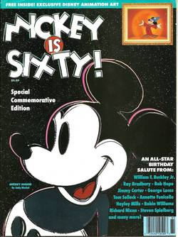 Mickey is 60 Magazine w/Sericel