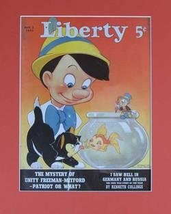 Pinocchio Liberty Magazine Cover image