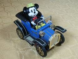 Mickey Mouse Blue Die-Cast Tin Lizzie Car image