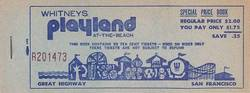 Whitney's Playland Ticket Book - San Francisco image