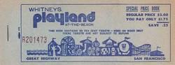 Whitney's Playland Ticket Book - San Francisco image