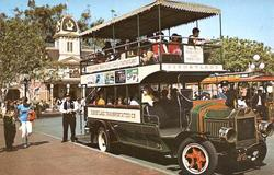 Disneyland Double Decker Bus Postcard