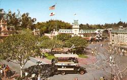 Disneyland Town Square Postcard in Fall