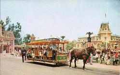 Disneyland Horse-Drawn Trolly Postcard