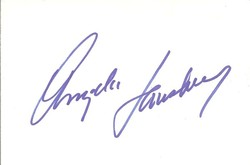 Angela Lansbury Autograph Index Card image