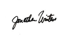 Jonathan Winters Autograph Index Card image