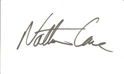 Nathan Lane Autograph Index Card image