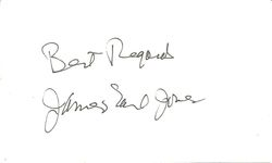James Earl Jones Autograph Index Card image