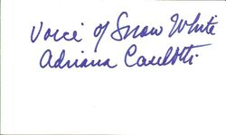 Adrianna Caselotti Autograph - Voice of Snow White