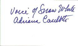 Adrianna Caselotti Autograph - Voice of Snow White