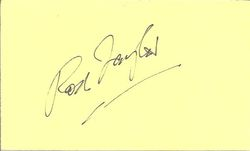 Rod Taylor Autograph Index Card
