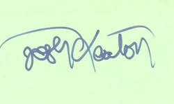 Josh Keaton Autograph Index Card image