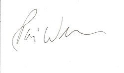 Robin Williams Autograph Index Card 0415 image