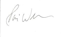 Robin Williams Autograph Index Card 0415