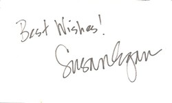 Susan Eagan Autograph Index Card image