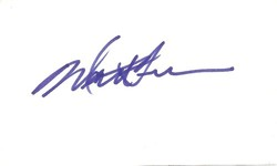 Matt Frewer Autograph Index Card