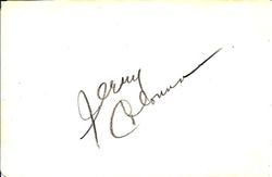 Jerry Colonna Autograph