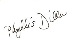 Phyllis Diller Autograph Index Card