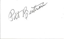 Pat Buttram Autograph Index Card image