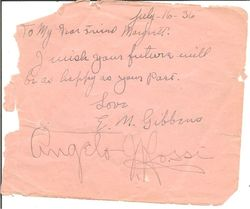 Angelo Rossi & Chief Caupolican Double Autograph