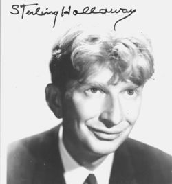 Sterling Holloway Autograph Photo