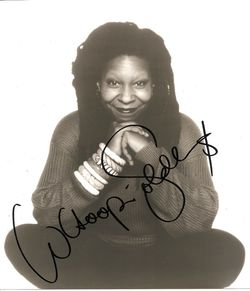 Whoopi Goldberg Autorgaph Photo