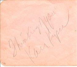 Kay Kyser Autograph