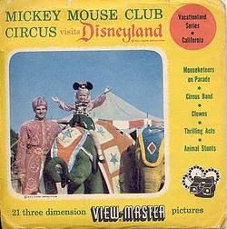 Mickey Mouse Club Circus at Disneyland Viewmaster Set image
