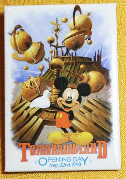 Disneyland Tomorrowland 1998 Opening Day Button