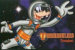 Disneyland 1998 Tomorrowland Goofy Postcard image