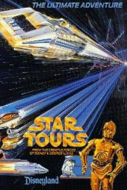 Disneyland Star Tours Postcard