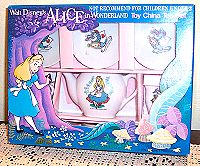 Alice in Wonderland Miniature Tea Set image