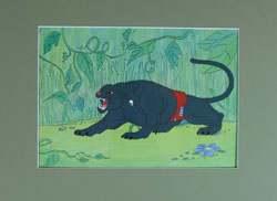 Superfriends Panther Original Animation Cel
