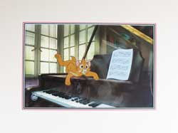 Oliver - Disney's Oliver and Company Original Animation Cel