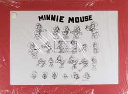Minnie Mouse Model Sheet